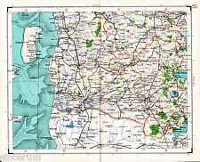 Nordschleswig Apenrade Töndern 1923 Gen.stabs-Karte Hoyer Flensburg Hadersleben