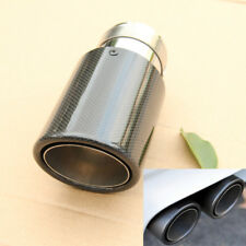 Carbon Fiber Stainless Steel Car Exhaust Pipe Tip Tail Muffler Cover Car Styling