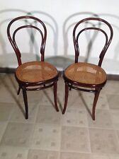 2 Original Thonet Stühle Nr.8 um1860/70 Sehr SELTEN 1 Etikette/Stempel und Stern