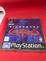 Nightmare Creatures - PS1 (Sony Playstation 1) Complete Manual (PAL) Black Label