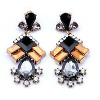 1Pair Fashion Women Resin Crystal Geometric Ear Stud Eardrop Earring Jewelry Hot