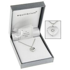 Equilibrium Silver Plated Heart Locket Necklace 9212