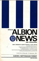 West Bromwich Albion v Nottingham Forest 1968/9
