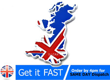 UK GB ENGLAND UNION JACK FLAG CAR EMBLEM BADGE STICKER LOGO CHROME 3D