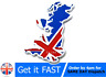 England UK GB Flag Union Jack Rear Car Emblem Badge Sticker Logo Chrome 3D
