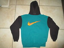 Vintage Nike Youth XL 18-20 Mens S 90s VTG Green Pastel Hoodie Sweatershirt