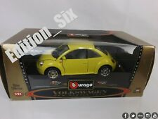 Burago 1:24 1998 VOLKSAGEN BEETLE yellow metal model car boxed