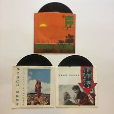 "RARE Wang Chung 3 Record Lot 7"" 45 Vinyl Picture Sleeves Lets Go To Live Die LA"