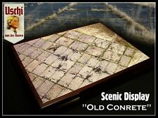 """Uschi 1/72,1/48,1/35 Diorama Scenic 3D Display Groundwork """"Old Concrete"""" Sheet"""