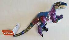 "Wild Republic Velociraptor Colorful Dinosaur Plush Stuffed Animal Toy 11"" New!"