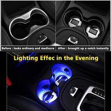 1pcs LED Cup Pad Mat Lighting Accessories Lights Volkswagen Car Vehicle Lamps