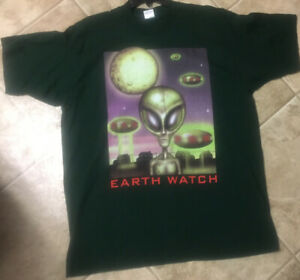 NWOT Deadstock Vintage Single Stitch 90's TShirt Earth Watch Extra Large