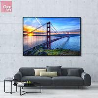 Canvas print wall art big poster San Francisco golden gate bridge sunset skyline