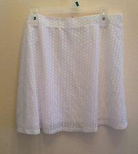 New-Beautiful Women's No Boundaries White Lace Skirt XL (15-17)