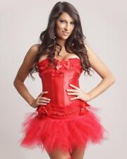 Satin Lace Ruffle Corset Top & Tutu Skirt Set -S M L XL 2XL to 5XL PLUS