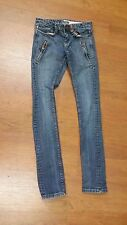Silence + Noise Women's Blue Wash Zipper Pockets Skinny Jeans Size 25