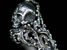 Totenkopf Designer Ring Silber 925 Skull Gothik Piraten Biker Rocker Style