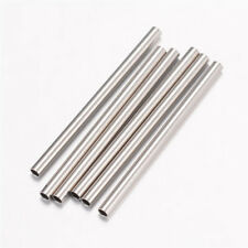 50pcs 304 Stainless Steel Smooth Straight Tube Metal Beads Spacer Findings 25mm