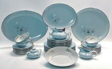 Franciscan Silver Pine Mcm Dinnerware Service for 7 Includes Serving Pieces