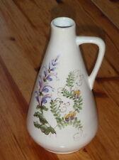 ULMER KERAMIK Vase 235/02 - 19 cm handbemalt Blumen Gräser Krugvase Henkelvase