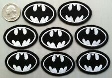 "Batman patches Batman patch heat seal backing 1.75"" wide iron on lot of 8 pcs."