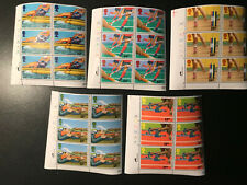 Gb Qeii Sg 1149-1153 Commonwealth Game Set Cylinder Blocks of 6 1986 Stamps Mnh