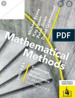 Cambridge Mathematical Methods VCE Units 3/4 (PDF Version)