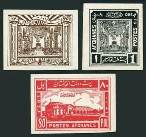 Afghanistan 263,265,266 imperf proof,lightly hinged. National Council,1932.