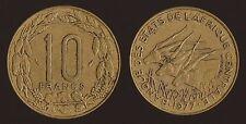 AFRICA CENTRALE 10 FRANCS 1977 CENTRAL AFRICAN STATES ETATS DE AFRIQUE CENTRALE
