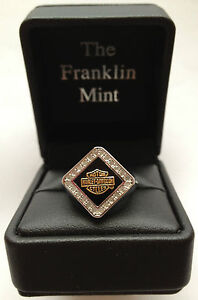 Harley-Davidson Ladies Forever Diamond Ring by Franklin Mint D4J8578 SZ 6