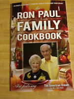 THE RON PAUL FAMILY COOKBOOK 2O12 EDITION THE AMERICAN DREAM & RON PAUL STICKER