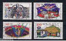 GERMANIA 4 FRANCOBOLLI PRO GIOVENTU CIRCO JUGEND 1989 usato