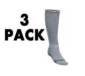 New 3 pack Reebok 12K Ice Hockey Socks Adult Small Gray senior compression Skate