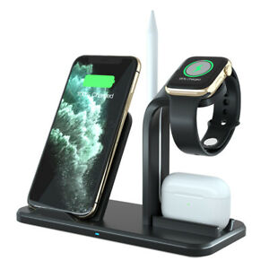 US 3in1 Qi Wireless Charger Dock For Apple iWatch 5/4/3/2/1 AirPod iPhone 11 XS