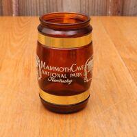 Vintage Siesta Ware Brown Glass Mammoth Cave National Park Mug Wood Handle