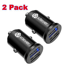 2x Dual USB 4.8A Car Charger Adapter QC 3.0 Fast Charging for iPhone Samsung