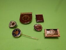 VINTAGE ITEMS 6 PINS DDR GERMAN HOLLAND  RARE - GOOD CONDITION