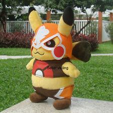 "Pokemon Go Plush Toy Mask Pikachu 8"" Cosplay Game Movie Stuffed Animal Doll Gift"