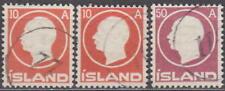 ICELAND - ISLAND FREDERIK 1912 - 3x NUMERICAL CANCELS - CHEAP !!
