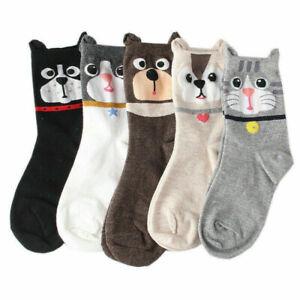 Sock Socks 3D Cotton Animal Cat Ankle-high Women Casual Dog Cartoon Cute Printed