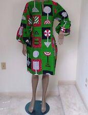 """African Print Wax Women Dress 100%Cotton well made bust 38"""" waist 36"""" length 39"""""""