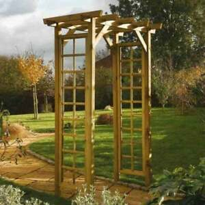 Rowlinson Square Top Garden Rose Arch Pressure Treated