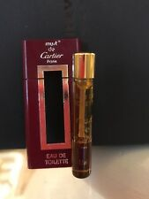 Must De Cartier Perfume Edt 1.1 ml Botella Mini Display 1ml izquierda Rara Vintage