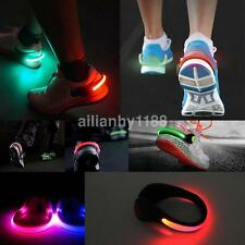 Glowing Reflectors Night Safety LED Flash Lights Shoes Clips for Running Cycling