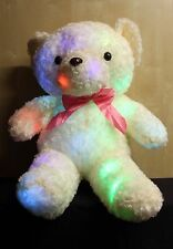 Cuddly Teddy Bear with Colour Changing L.E.D Lights - 60cm tall - Glow Pillow