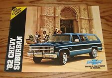 Original 1982 Chevrolet Truck Suburban Sales Brochure 82 Chevy