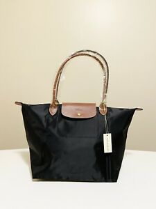Authentic Longchamp Le Pliage Tote Bag BLACK LARGE Size NEW 🎄Christmas Gift🎁