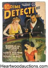 Dime Detective Nov 1940 Cornell Woolrich, T.T. Flynn, DeSoto cover