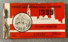 1939 GOLDEN GATE INTERNATIONAL EXPOSITION 6 TICKET BOOKLET Scooter French Key ++