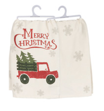 Christmas Red Truck Towel Christmas is Coming Kitchen Gifts Primitives by Kathy